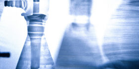 closeup of a laboratory apparatus