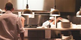 a busy restaurant kitchen