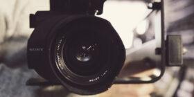 direct shot of a camera's lens