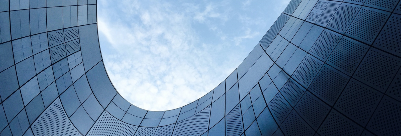 a curved building