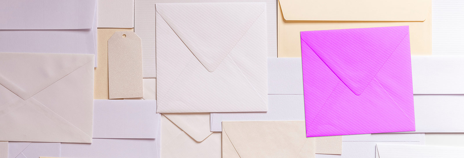 top view of a lot of envelopes