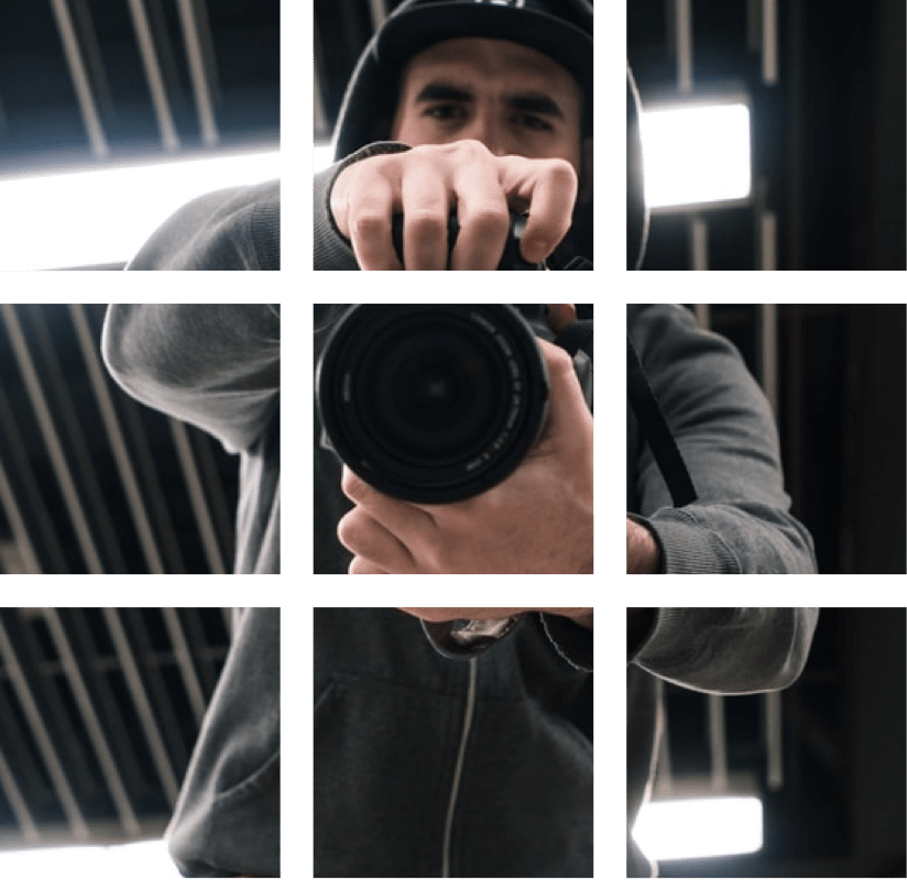 a man with a camera